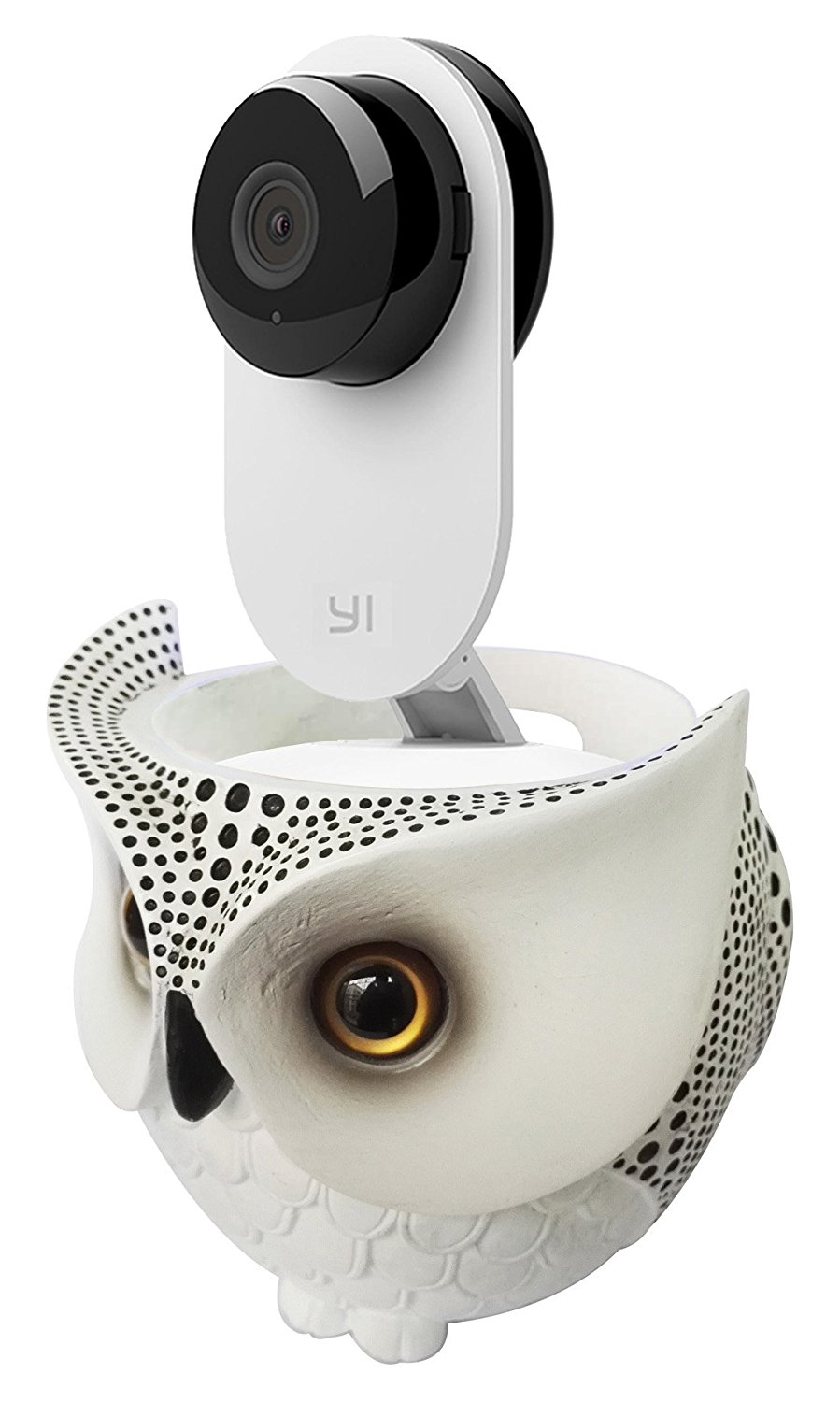 FitSand Owl Statue Crafted Stand Guard Holder Station for YI Home Camera Wireless IP Security Surveillance System