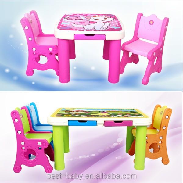 Los ni os estudian bonito pl stico mesas de estudio y - Sillas de estudio para ninos ...
