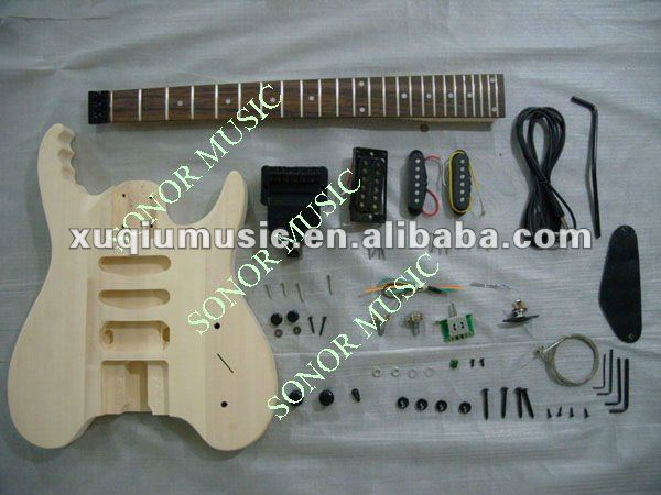 Diy Headless Electric Guitar Kits/Unfinished Guitar Body