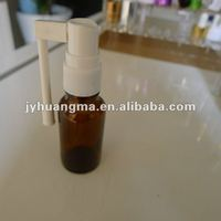 Nasal spray bottle with pump