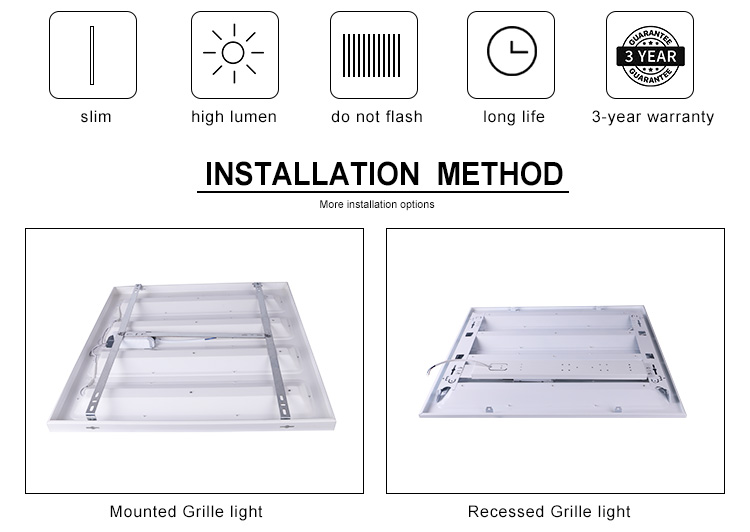 High Quality Low Price Surface mounted 96W Ceiling SMD Led Panel Light