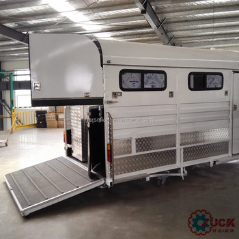 Angle Load 2 Horse Trailer Used For With Barn Door