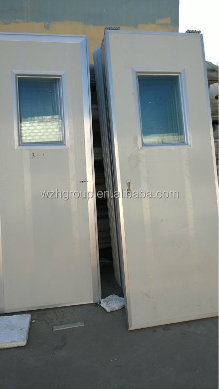 White Color Flat Foam Sandwich Panel Door With View Window - Buy Clean Room  Door With View Window,Double Swing Door,Single Clean Room Door Product on  ...