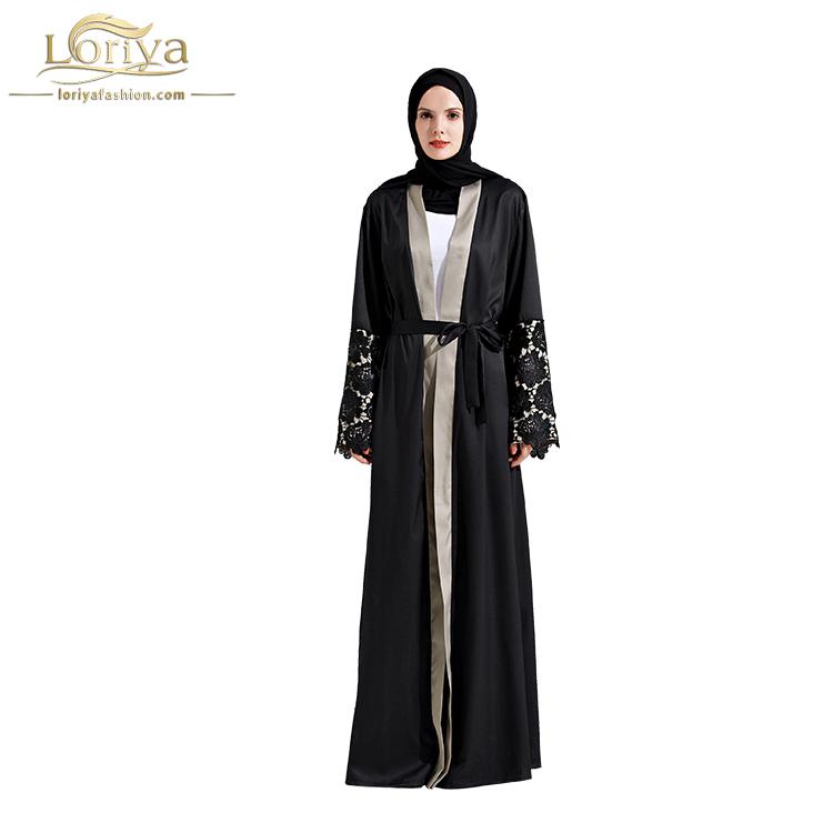 8c4ca01dacd 2018 Fashionable Trendy Black Lace Abaya Thobe
