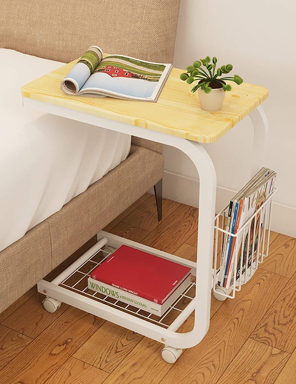 HAIPENG Simple Laptop Computer Desk Bed Computer Desk Desk Movable Folding Table Lazy Bedside Tables (5 Colors Optional) (Color : C, Size : LWH:503062.5cm)