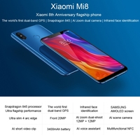 Global Version Top Quality Best Sell China Brand Smartphone Xiaomi Mi8 6GB+64GB 6.21 inch Top Quality Cell Phone Android Phone