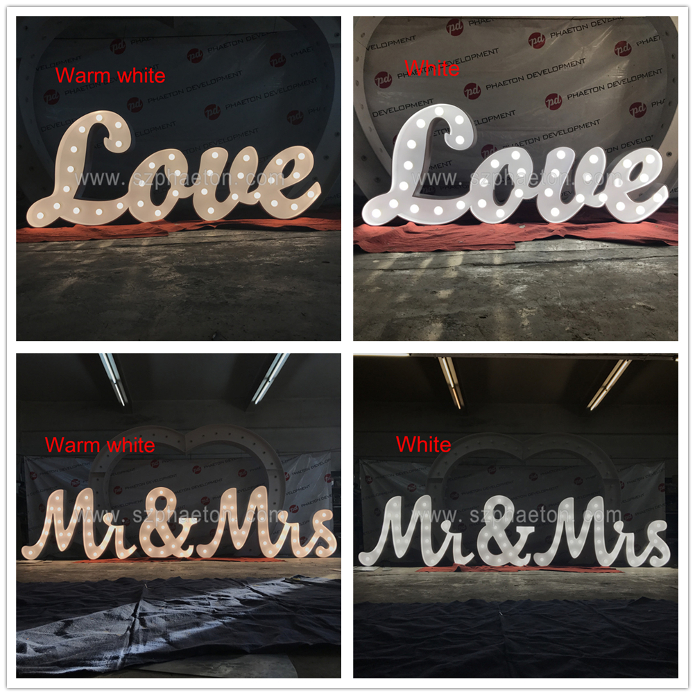 High quality indoor / outdoor large light up marquee bulb LOVE letters