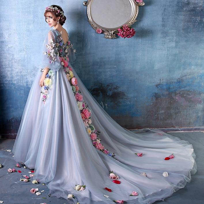 Celtic Wedding Dresses White Pale Blue Medieval Bridal: Light Blue Long Court Medieval Dress Renaissance Gown