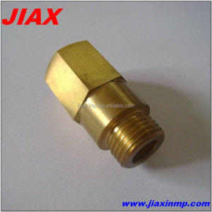 Custom cnc machining brass Filter fittings for water supply NB Adapter