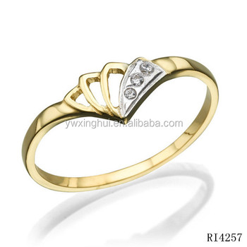 Latest Designs Rhinestone Gold Finger Rings For Women Buy Gold