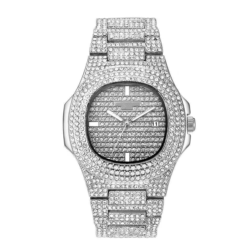 Diamond trend watches sophisticated design can be customized color logo large inventory diamond watch фото