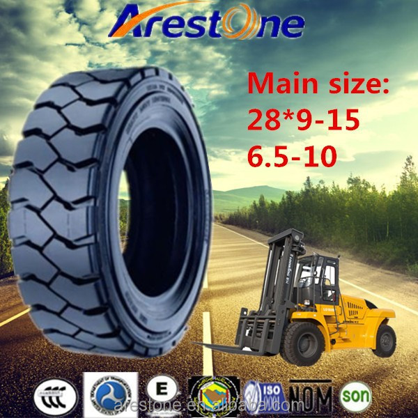 tyre factory lowest price solid forklift tires 28*9-15, Industrial forklift Tyre 6.5-10