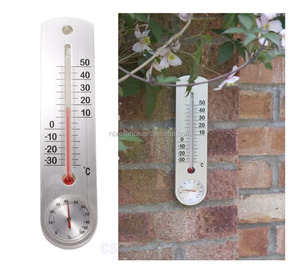 Indoor Outdoor Wall Mounted Thermometer & Hygrometer Analogue Weather Station