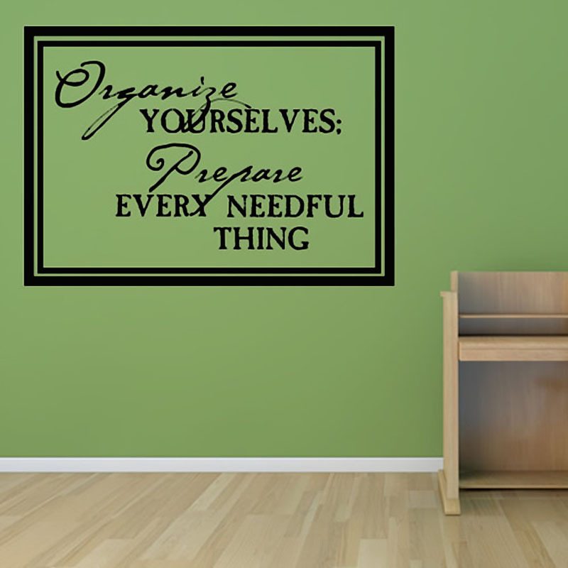 Inspiring English Art Words Living Room Home Decor Removable Waterproof Wall Sticker