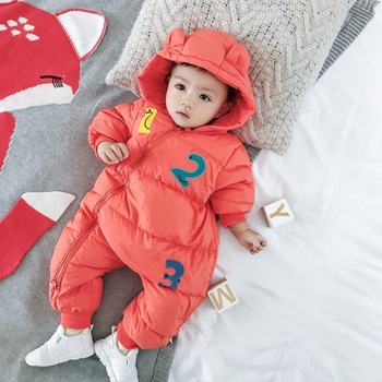 S11579B 2017 Infant Baby Winter Jackets Fashion Newborn Infant Boy Snowsuit 90% Duck Down Coats winter romper