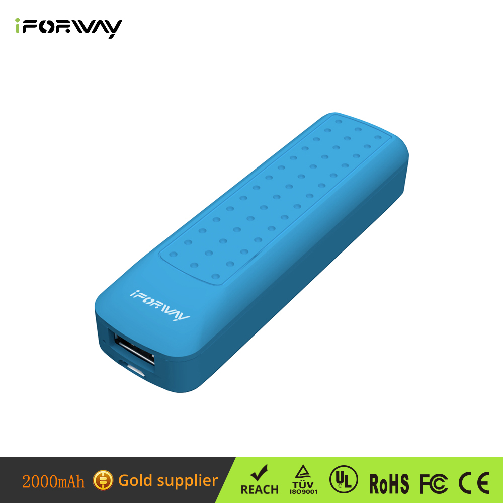 Ultra Compact Mobile Phone Battery 2000mAh Power Pack Charger Cell Phone Charger Power Bank