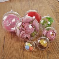 Wholesale cheap clear acrylic plastic ball PS material decoration ball promotion Christmas plastic ball 3CM-20CM