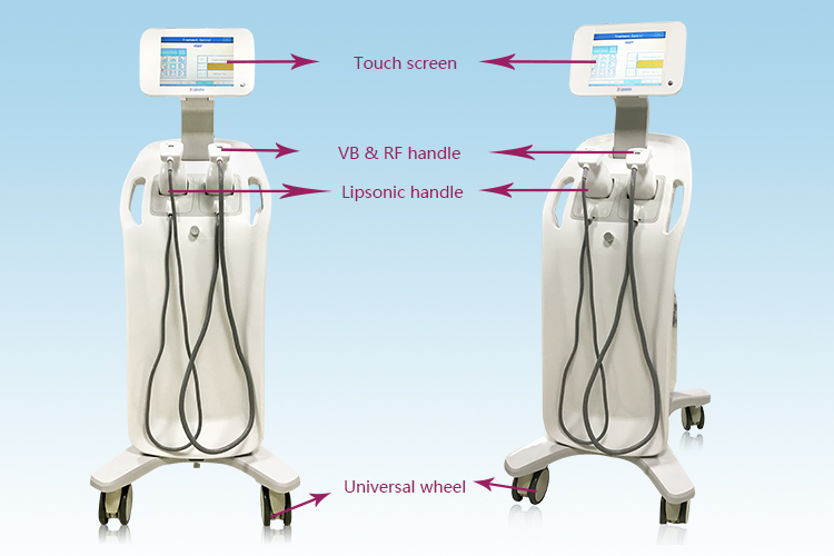 Popular 2 handles skin tightening and stimulate collagen increasing RF & Vacuum Slimming Machine