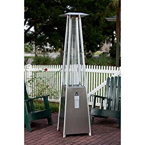 Get Quotations · Pyramid Flame 40,000 BTU Patio Heater, Stainless Steel