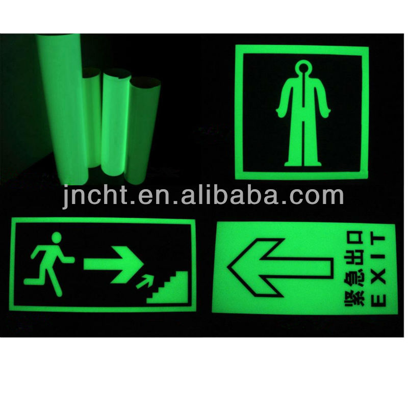 Glow in the Dark Safety Sign
