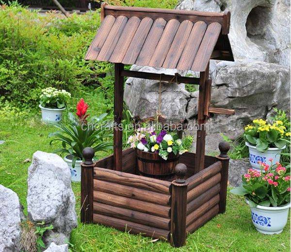 Exceptional Decorative Wooden Wishing Well / Garden Wishing Well /Wedding Wishing Well