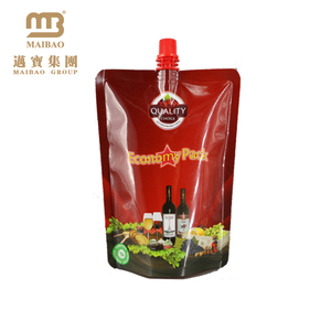 Personalized water proof 8oz/16oz/32oz rum flask pouch wine bag with spout