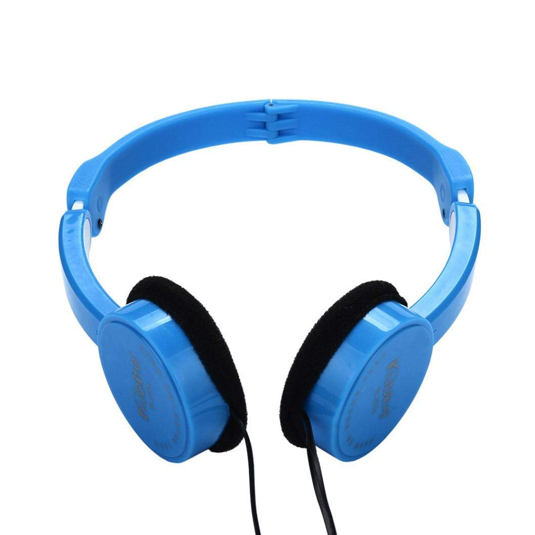 ee4e4d923ec Get Quotations · Creazy Kubite Kids Wire Headphones On Ear Foldable Stereo  Headset for Kids Earphone (Blue)
