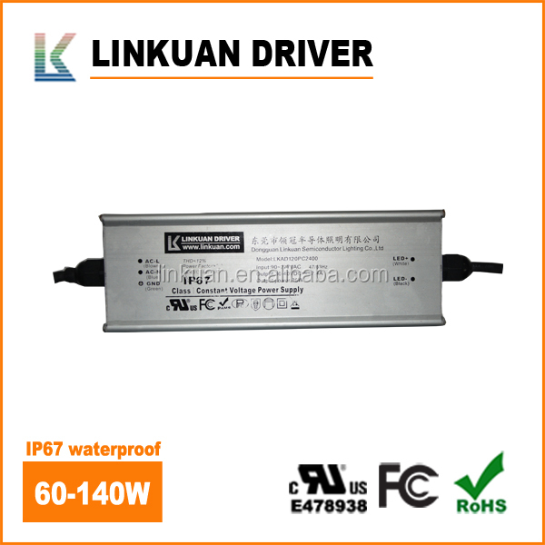 UL FCC SAA TUV Certified High Efficiency 98% Constant Voltage 100 Watt 12 volt 24 volt Dc Led Driver For LEDs (NTC)