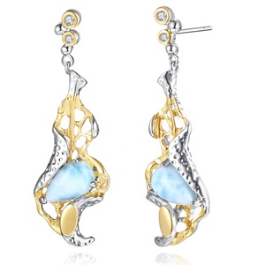 zhefan jewelry trending products larimar jewelry oem jewelry manufacturer larimar earrings for woman gifts