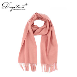 high quality cashmere woven muffler with fringes