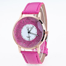 New 2016 Watches gift clock hour Lovers Men Women watch Star Fashion Watches For Lovers Leather Strap