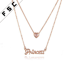 2018 Top selling fashion crystal jewelry, diamond 18k gold plated multilayer necklace fashion chain for women