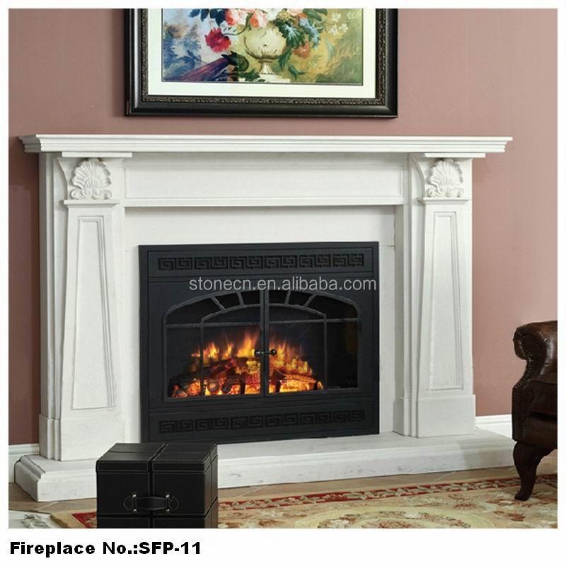 Zuhause schön poliertem marmor stein dekor flamme elektrischen ...