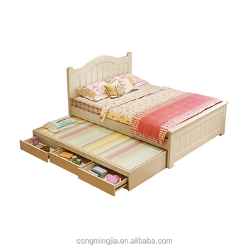 Modern Design Storage Single Bed Wood White Double Beds Buy Double