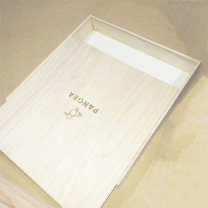 Wooden boxes with sliding lid