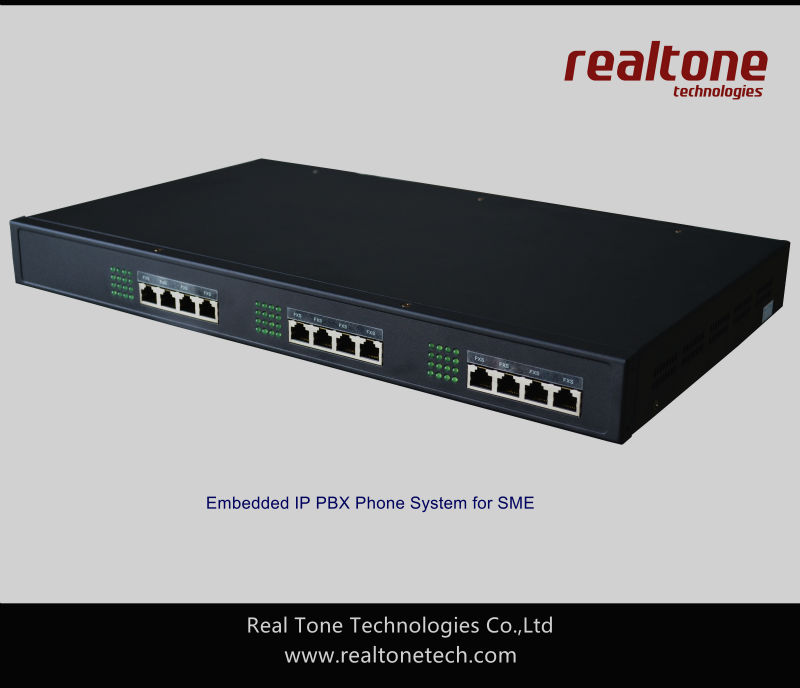 Office Telephone IP PBX system SIP based with 20S+4FXO port