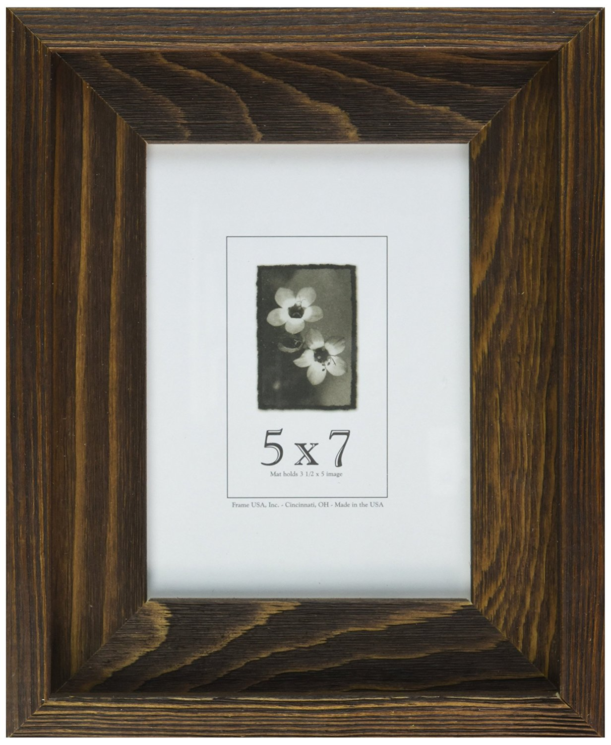 Get Quotations 5x7 Picture Frames Barnwood Alachian Series Rustic Brown