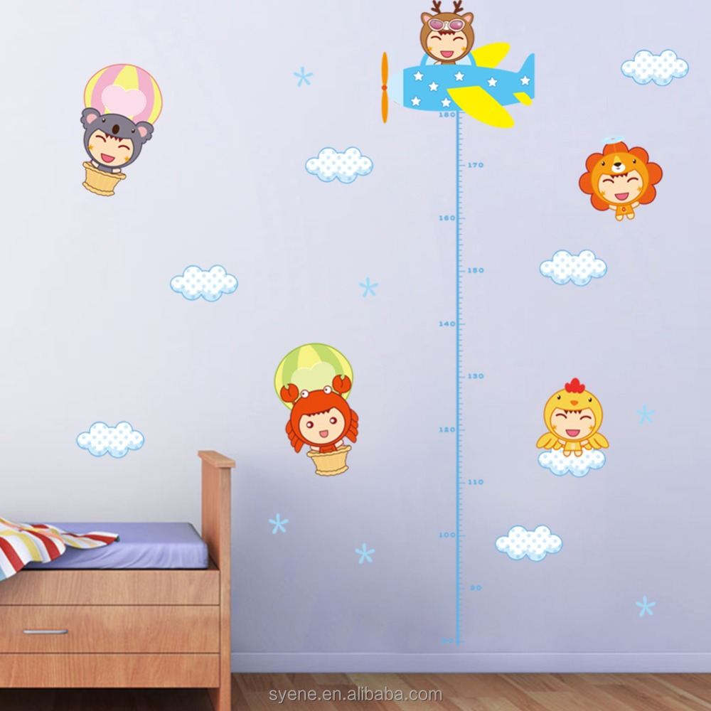 Syene Diy Kids Growth Chart Height Wall Stickers Kids Room Decoration  Cartoon Baby Learning Room Foam Kids Wall Decoration Decal