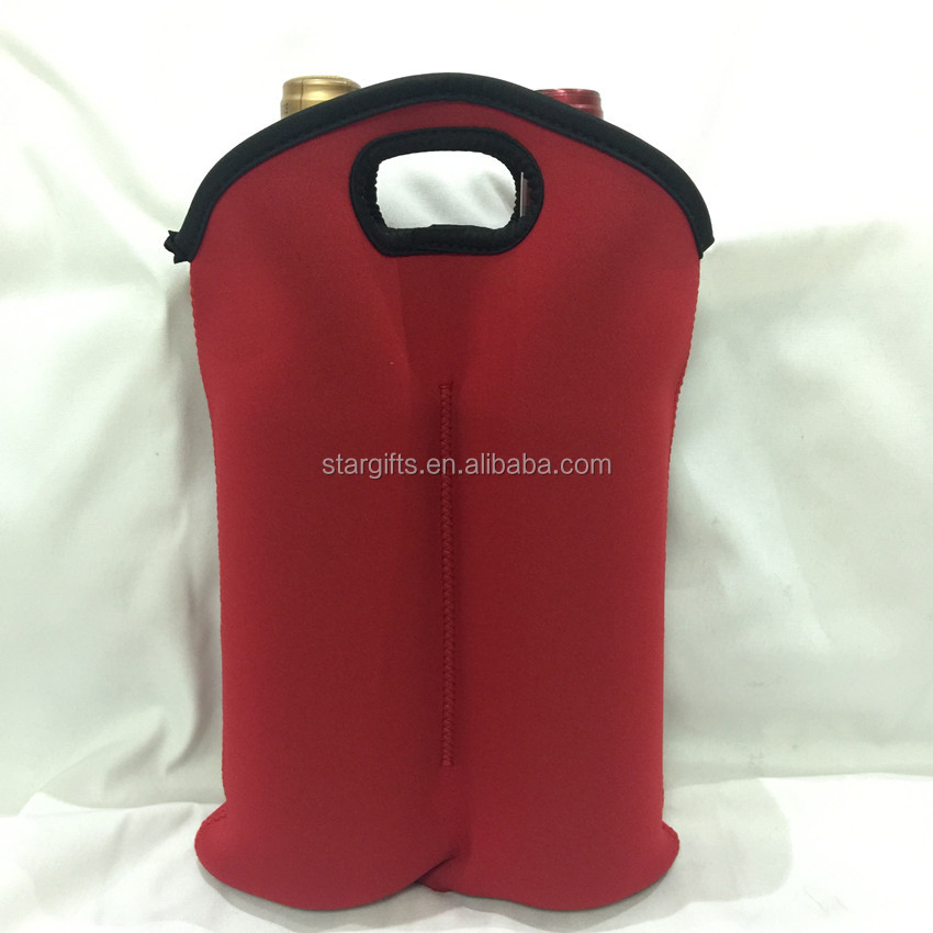 Customized Trendy Stylish Thermal Neoprene Champagne Bottles Protective Bag