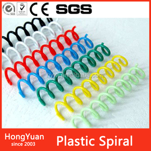 25mm Plastic Spiral Binding Coils - 4:1 pitch (Box of 100)