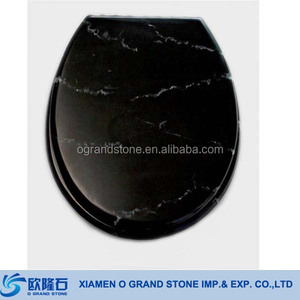 Bathroom Natural Stone Toilet Seat Cover Black Marble Toilet Seat