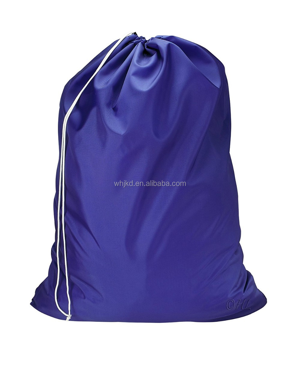 Custom printed promotional nylon folding laundry bag factory
