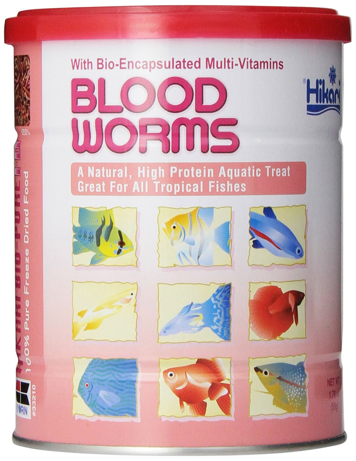 HIKARI Bio-Pure Freeze Dried Blood Worms for Pets, 1.58-Ounce