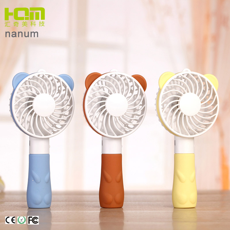 Decorative Handicrafts Bear Shaped Brown Usb Powered Desk Fan For Student
