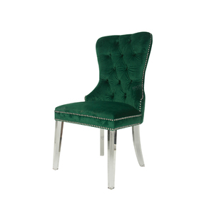 Dark green tufting back banquet chair ring back dining chair velvet