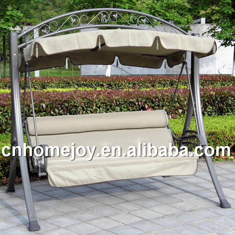 garden iron canopy swing seat swings person furniture chair cover item hammock bench outdoor hawaii durable