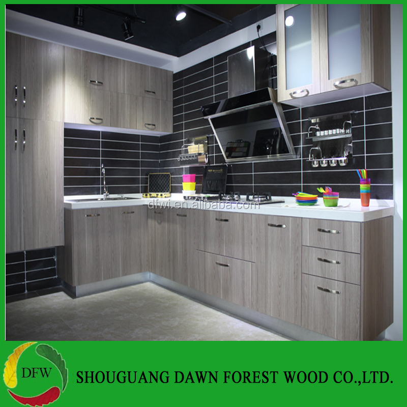 Hot Selling Modern Wood Grain Melamine Face Kitchen Cabinets Buy
