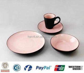 Crackle Glaze Dinnerware 16pc Stoneware Dinnerware Set & Crackle Glaze Dinnerware 16pc Stoneware Dinnerware Set - Buy Crackle ...