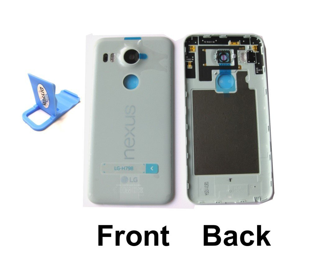 2a6f7feca01 Get Quotations · Icy Blue OEM LG Google Nexus 5X Battery Door Back Cover  Case Rear Housing H790 H791