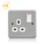 Metal clad industrial power 13A electric switch socket box